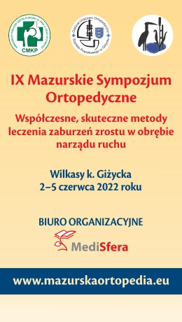 IX Mazurskie Sympozjum Ortopedyczne (2-5.06.2022)
