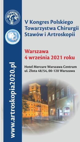 V Międzynarodowy Kongres Polskiego Towarzystwa Chirurgii Stawów i Artroskopii (04.09.2021)